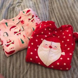 Christmas pajamas 5t footie jammies